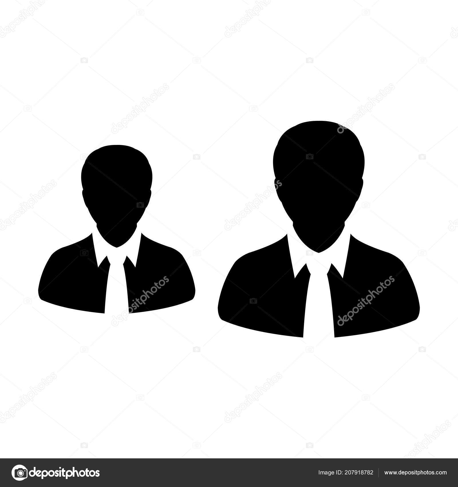 Team Icon Vector Male Group Persons Symbol Avatar Business