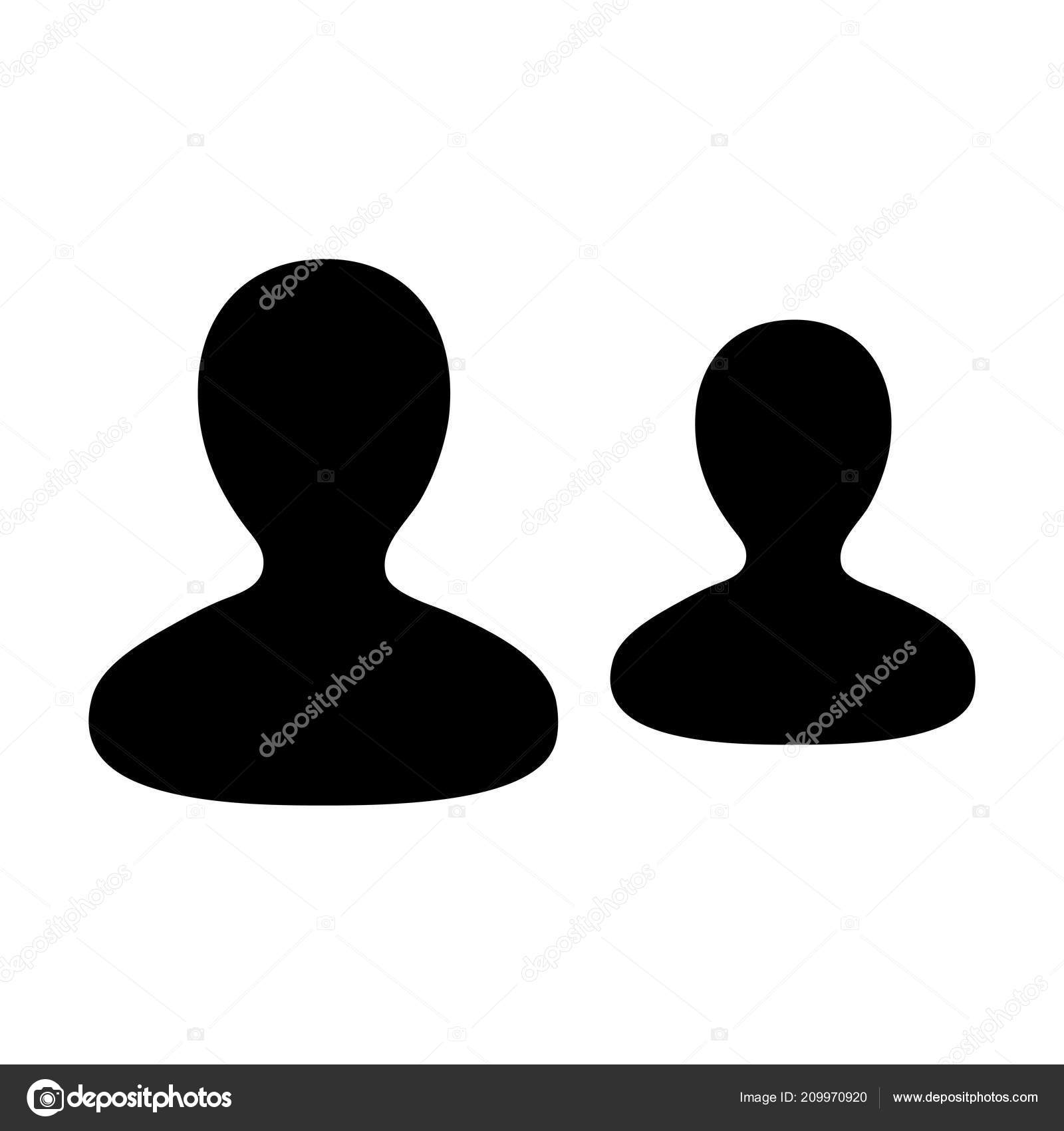 Icon Vector Male Group Persons Symbol Avatar Business Management