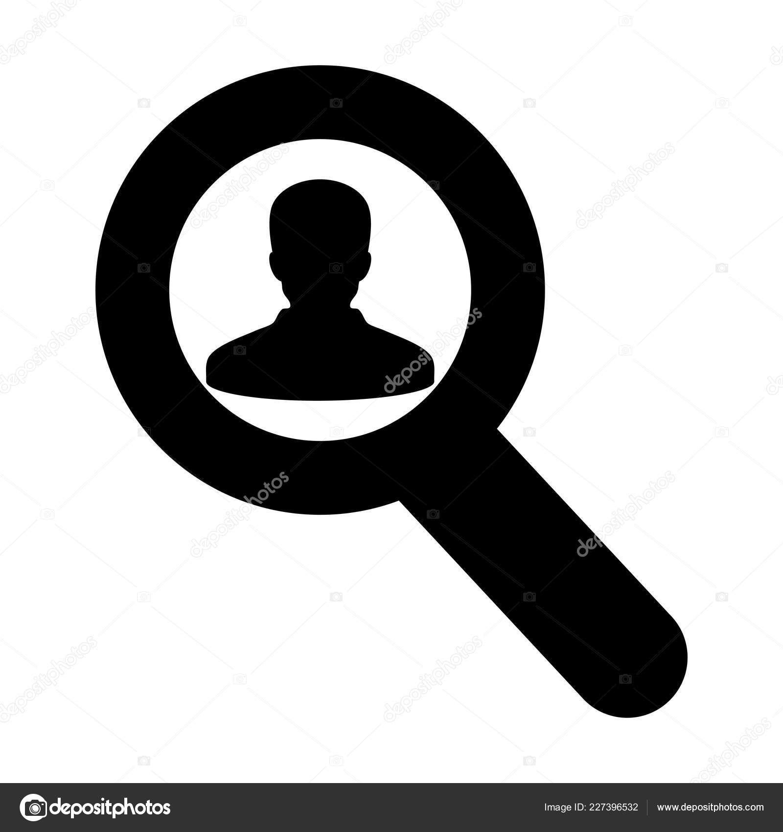 Find Icon Vector Male User Person Profile Avatar Magnifying