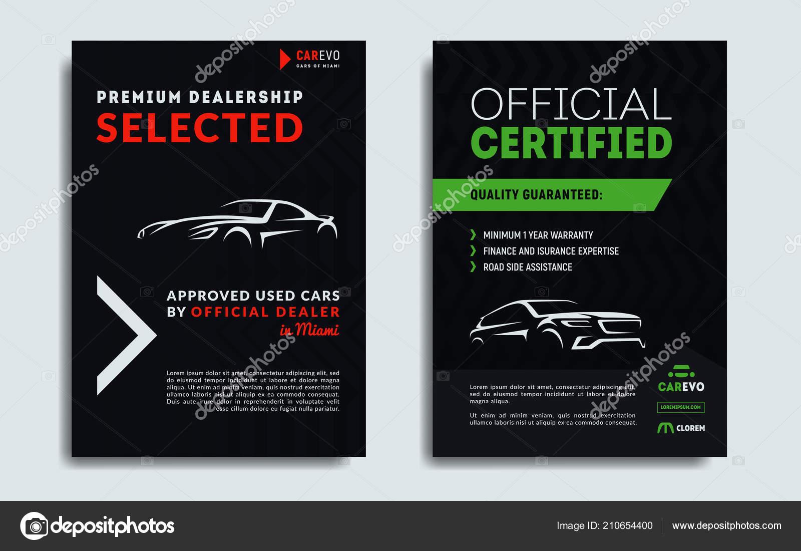 Satz Von Auto Reparatur Service Visitenkarten Vorlagen Auto