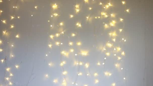 Nový rok a Vánoce pozadí se světly