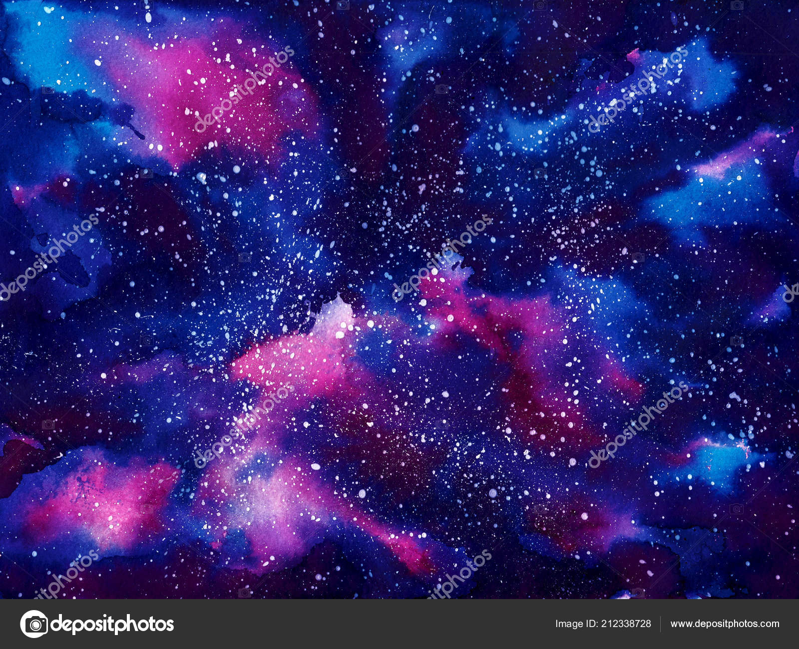 watercolor painted space universe galaxy stars splash 21233 | depositphotos 212338728 stock photo watercolor painted space universe galaxy