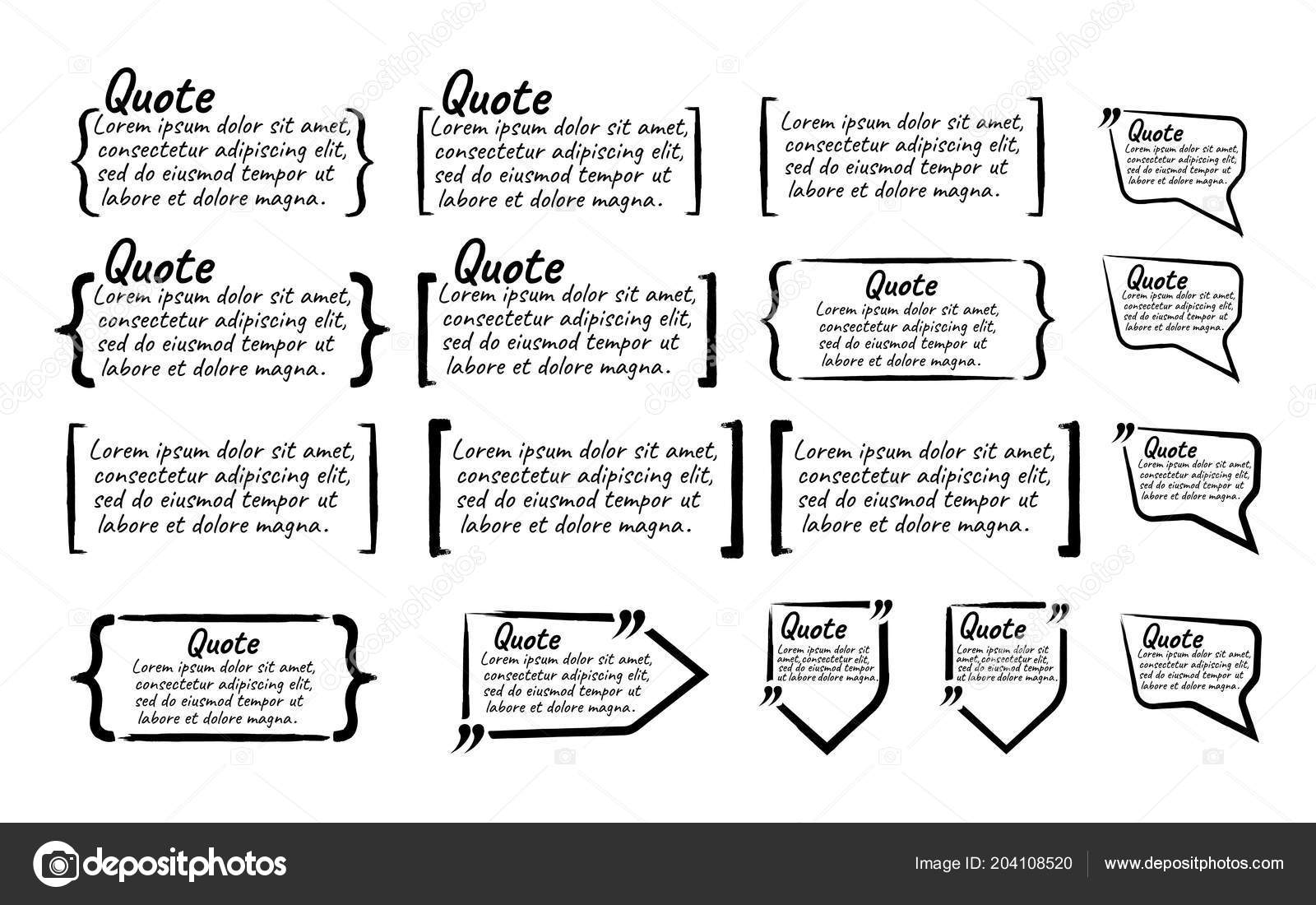 Set Quote Blank Text Icon Label Template Note Message