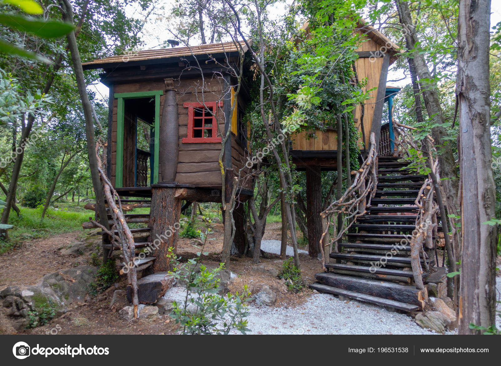 Picture of: Fantasy Tree House For Children Playing Stock Photo C Asafaric 196531538
