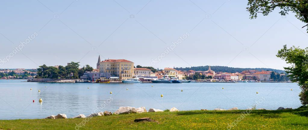 Histroric Istrian town of Porec, Croatia