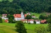 Fotografie Village Olimje near Podcetrtek, Slovenia with Monastery