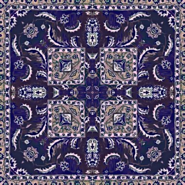 Seamless raster pattern in oriental style psychedelic mosaic Pattern for wallpaper, backgrounds, decor for tapestries, carpet.