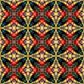 Fotografia Modello senza cuciture raster in stile orientale mosaico psichedelico Flower Pattern per wallpaper, sfondi gratis, arredamento per tappezzerie, moquette