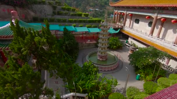 view of beautiful ancient place with colored buildings in Thailand