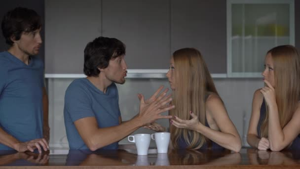 Emotional intelligence concept. Young couple analyzes their previous quarrel