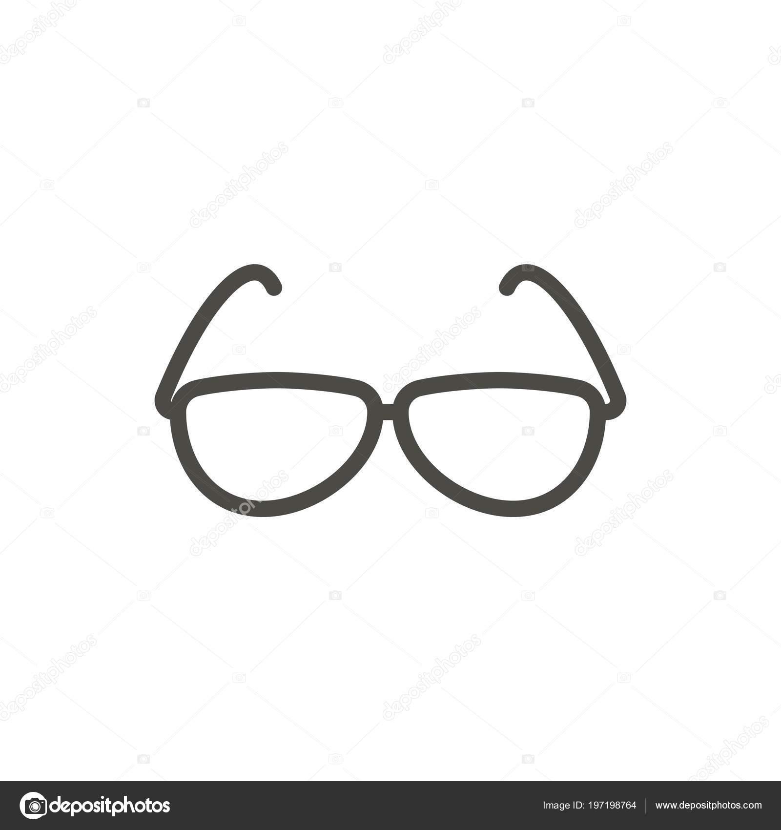 Sunglasses Icon Vector Line Summer Glasses Symbol Isolated Trendy