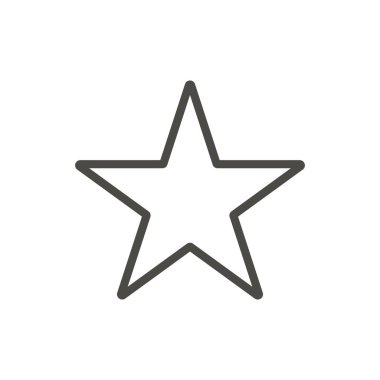 Star icon. Outline vector.