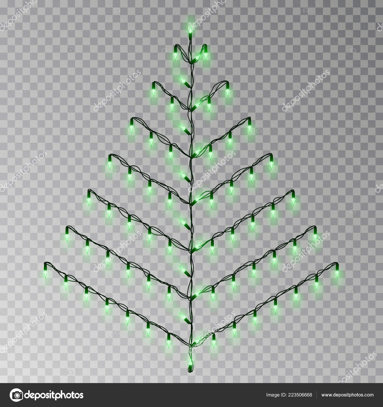 Christmas Color Tree Of Lights String Transparent Effect Decoration