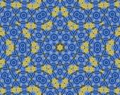 gelb und blau abstrakte Muster Hintergrund füllen den Rahmen