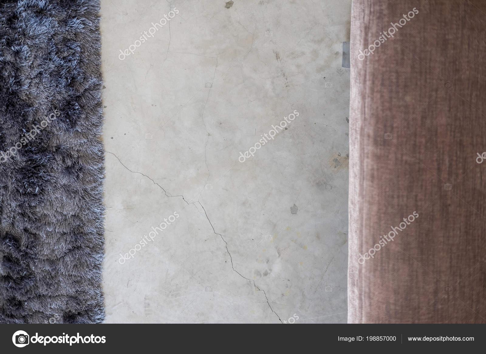 Dunkel Grau Weichen Teppich Und Beige Sofa Auf Zement Boden