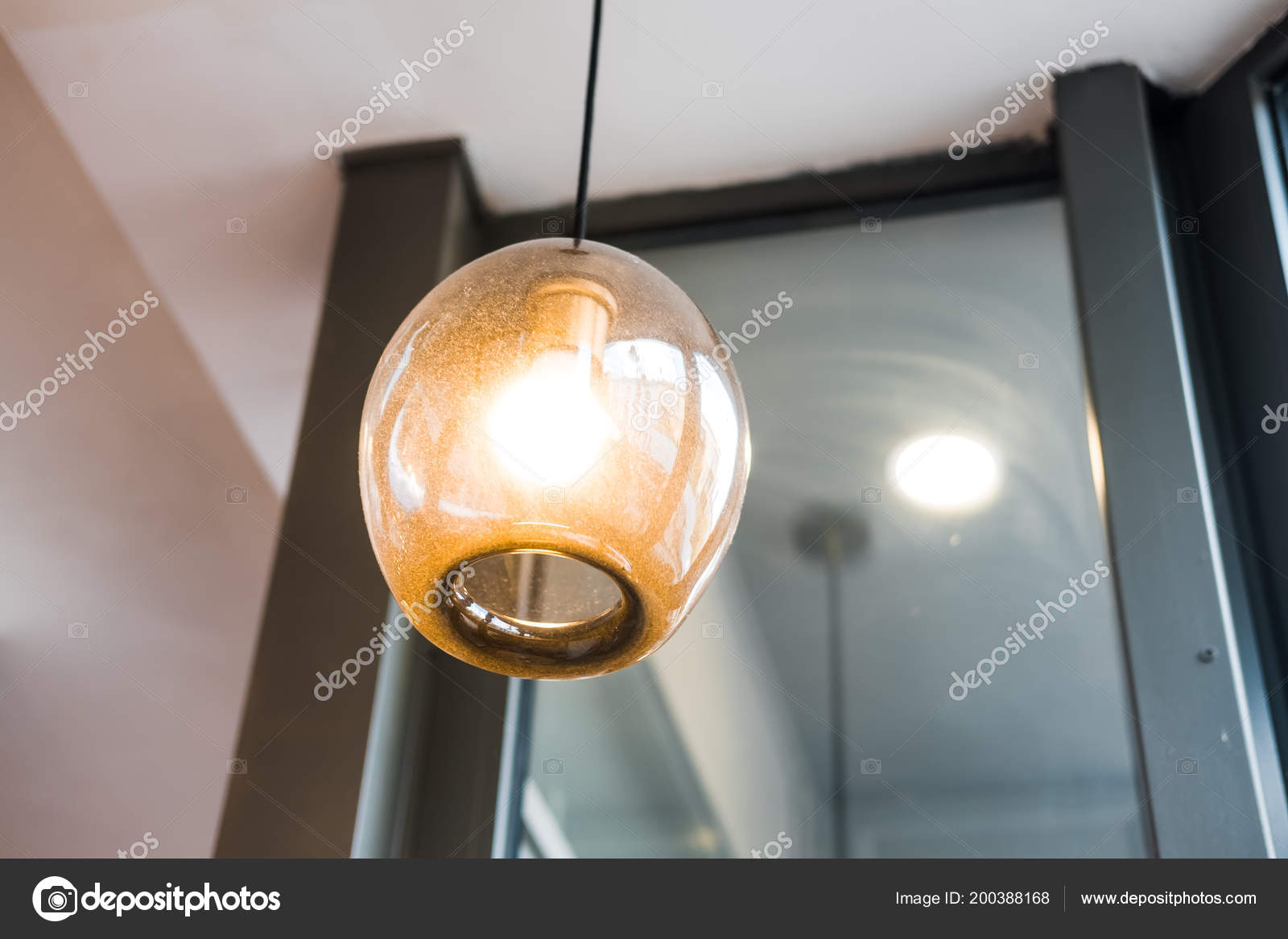 Coffee Shop Designs Ideas Glass Pendant Lighting Home Restaurant Coffee Shop Store Design Ideas Stock Photo C Julypi 200388168