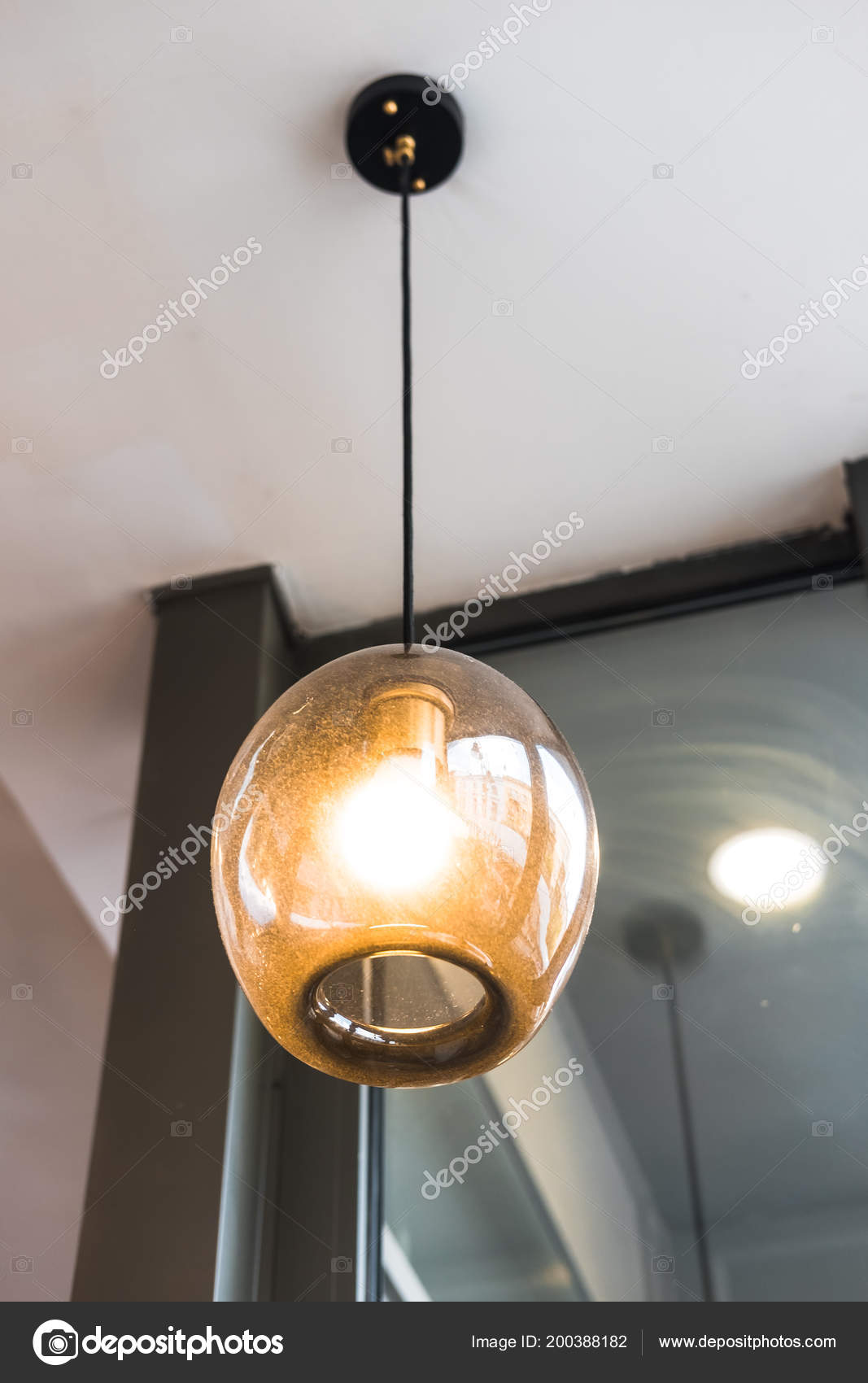 Glass Pendant Lighting Home Restaurant Coffee Shop Store Design Ideas Stock Photo C Julypi 200388182