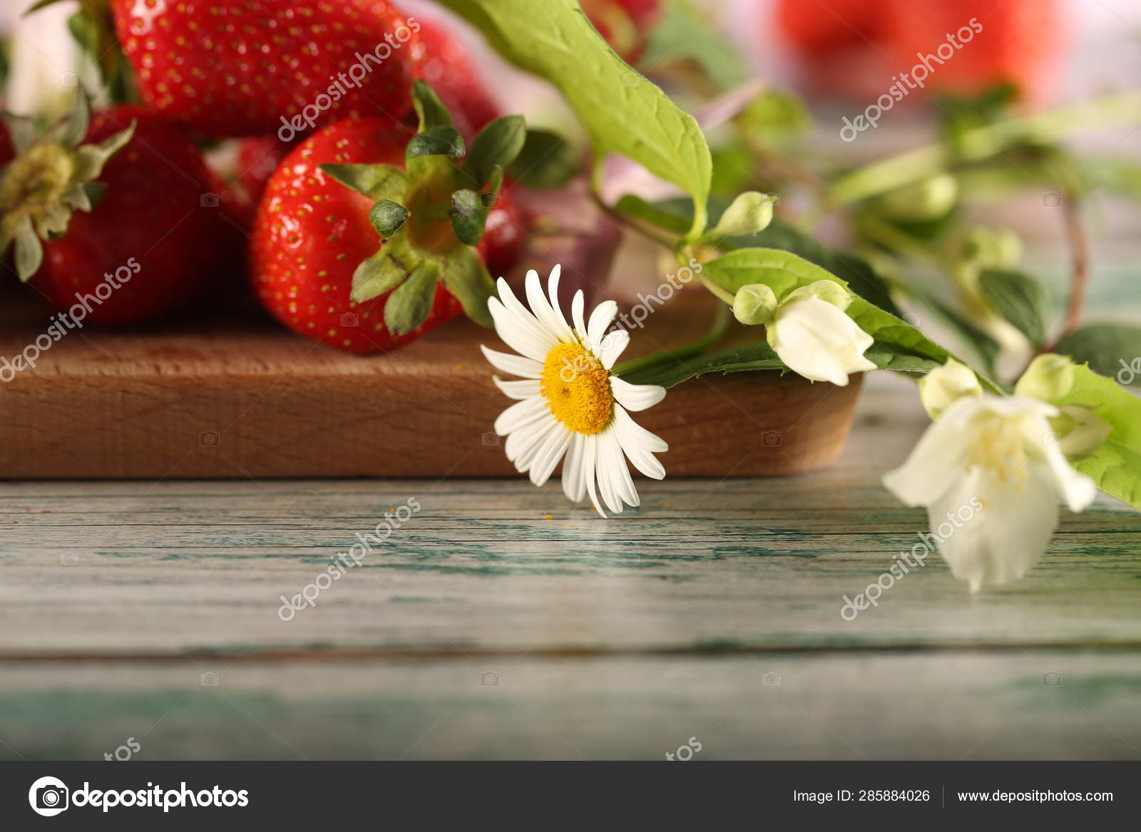 Fresh Strawberries Flowers Table Stock Photo C 26101981 285884026 A wide variety of daisy brown options are you can also choose from children daisy brown, as well as from wedding, mother's day daisy brown, and. https depositphotos com 285884026 stock photo fresh strawberries flowers table html