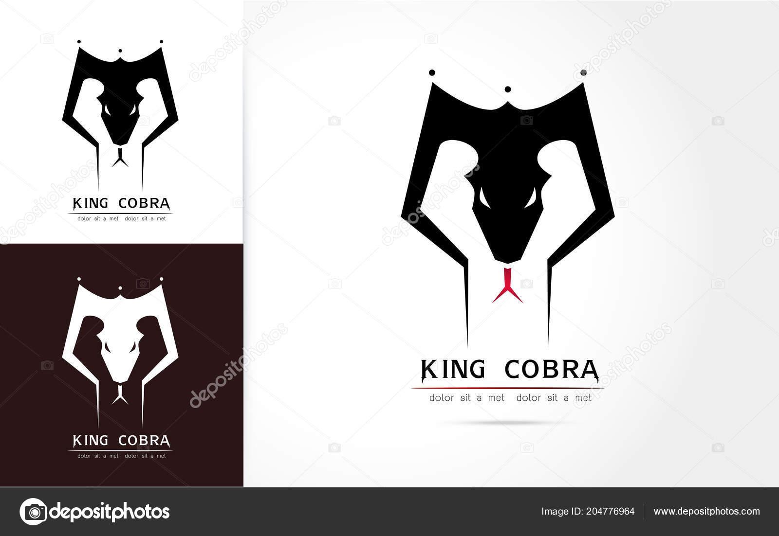 Stylized Image Graceful King Cobra Snake Silhouette Logo Icon Emblem