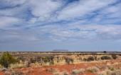 Fotografie Mount Conner, auch bekannt als Attila und Artilla, und gelegentlich als Mount Connor, einem der spektakulären Landschaft des australischen Outback, Northern Territory, Australien.