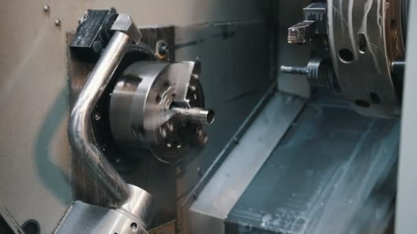 Automated lathe processes the part and creates a thread