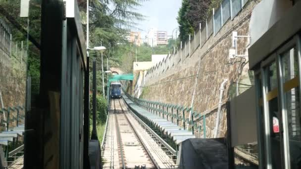 Metro Station. Train arriving to the station. Open country