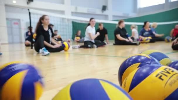 Rusko, Kazaň. 15-12-2018: sport pro zdravotně postižené osoby. volejbal