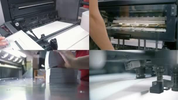 4 v 1: typografie průmysl. výroba průmyslových papíru
