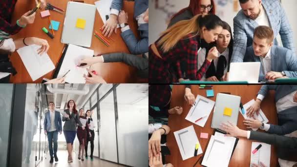4 in 1: Geschäftskonzept. ein produktives Arbeitsteam