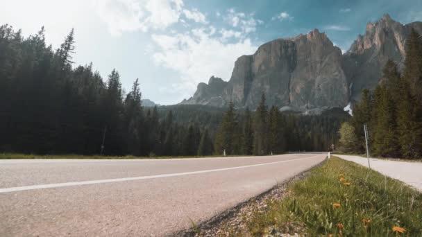 Nádherné Dolomitité hory v severovýchodní Itálii. Italské Alpy