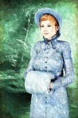 Fotografia Jane Austen stile carattere di bella donna in costume depoca. Particolarmente adatto a Regency Romance, design fan fiction Austen e il signor Darcy e libro copertina. Uno di una serie
