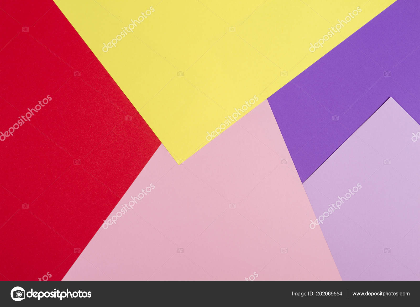 Color papers geometry flat composition background with violet ...