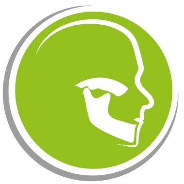 Head, jaw, orthodontics, dentist, logo