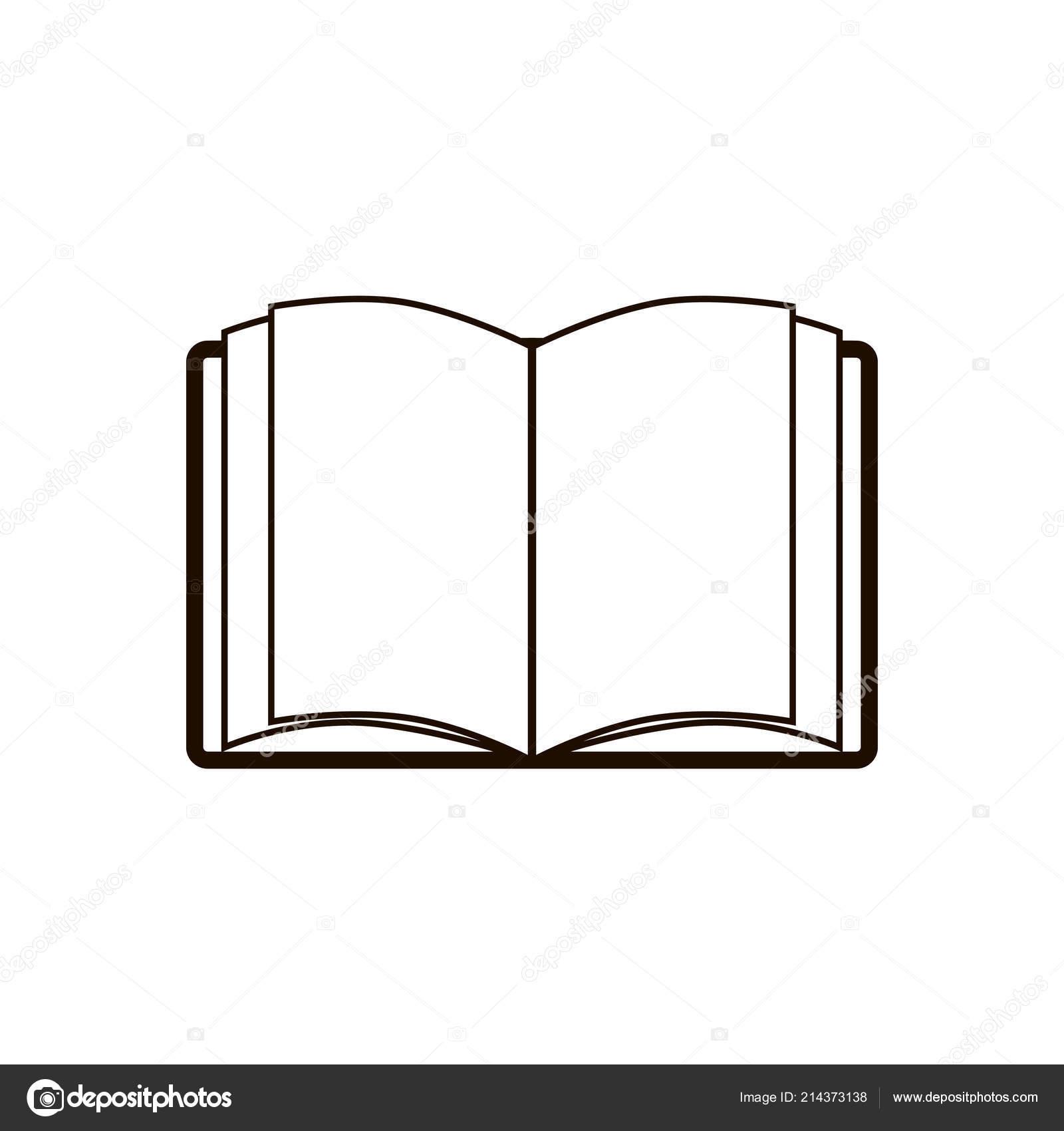 Icone Representant Livre Symbole Education Modele Logo Isole