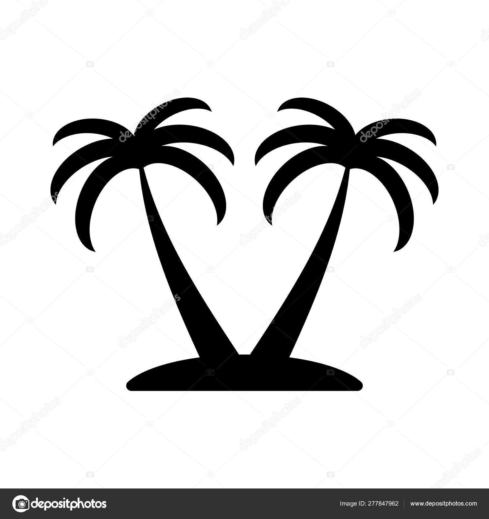 summer icon vacation symbol palm line silhouette tropical stock vector c irysha279 gmail com 277847962 summer icon vacation symbol palm line silhouette tropical stock vector c irysha279 gmail com 277847962