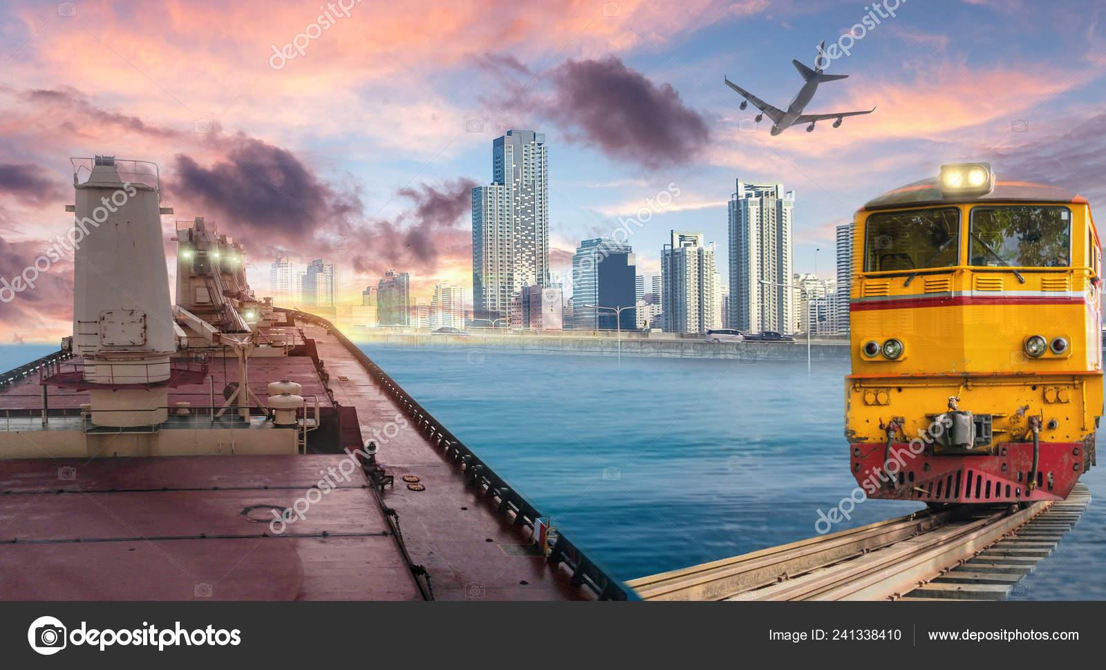 Logistics Transportation Cargo Ship Train Plane Import