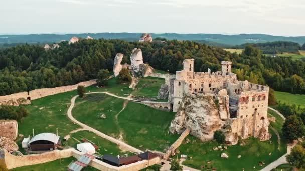 Rovine del castello medievale situate in Ogrodzieniec, Polonia
