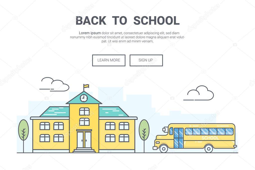 Landscape back to school concept.