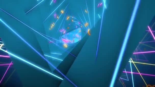 Háromszög Helix 03 mozgás hosszúság retro művészfilmek és filmes jelenetet. Is jó háttér a jelenet és a címek, logók.