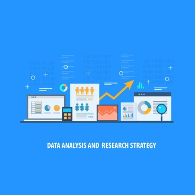 Data analysis research strategy colorful banner