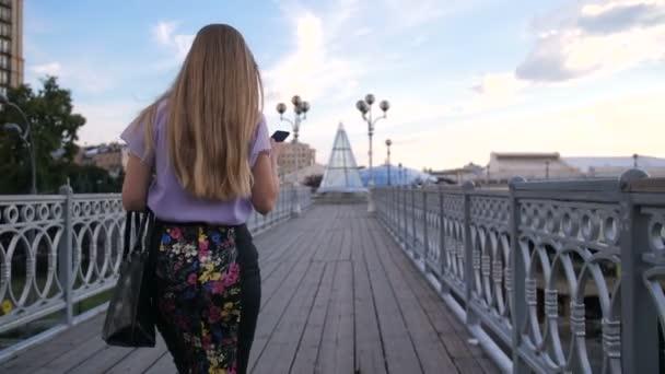 Pohled zezadu na podnikatelka s mobil