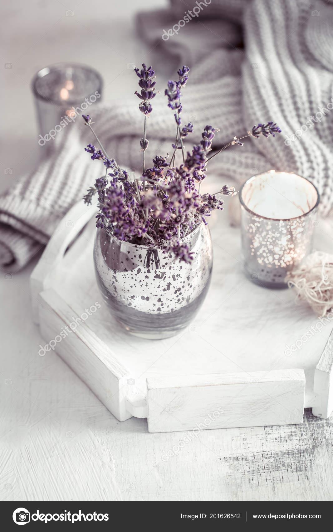 Still Life Lavender Glass Table Living Room Concept Home Comfort ...