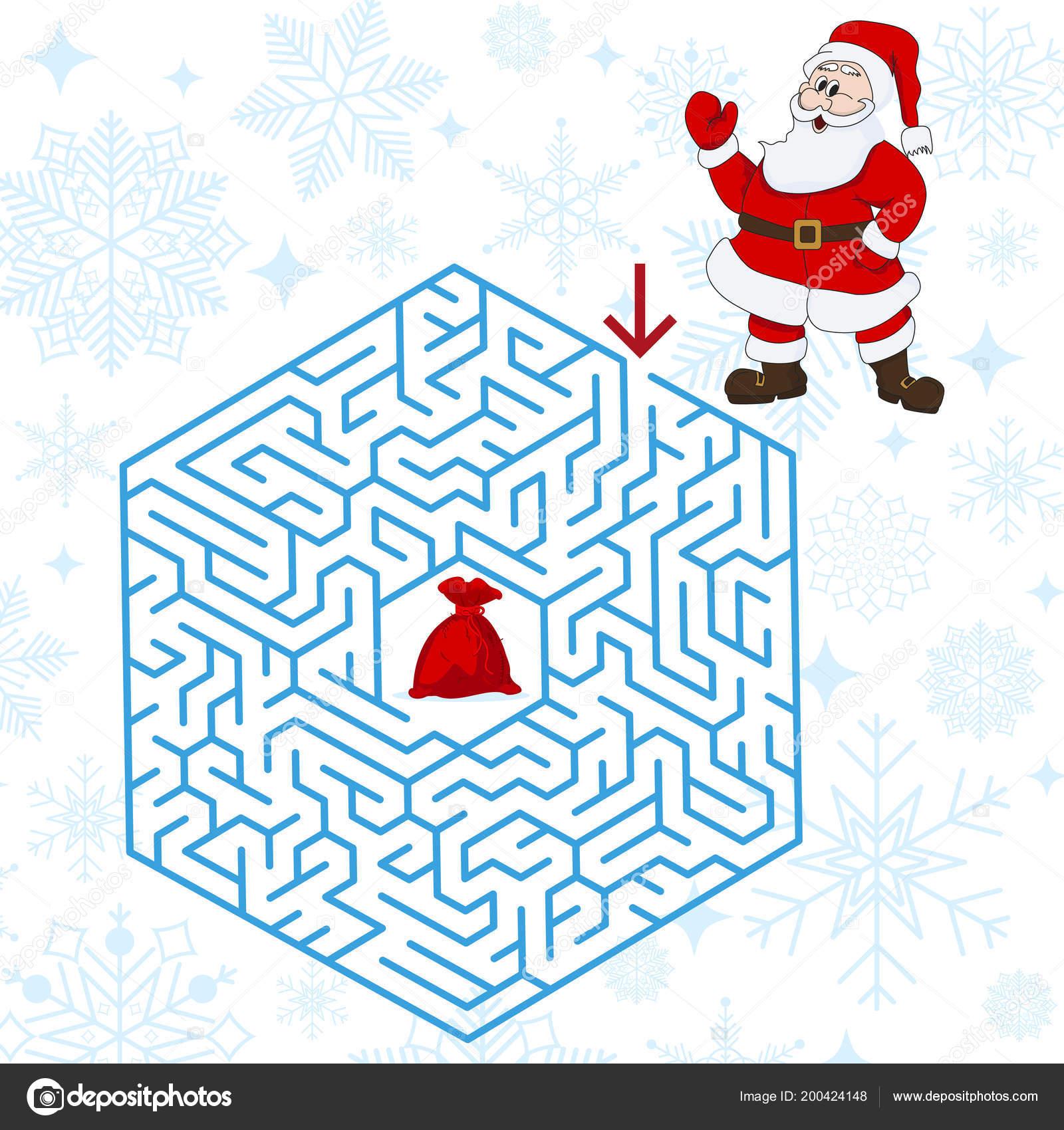 Percorso Babbo Natale.Poliedro Labirinto Gioco Enigma Modo Trovare Il Vostro Percorso