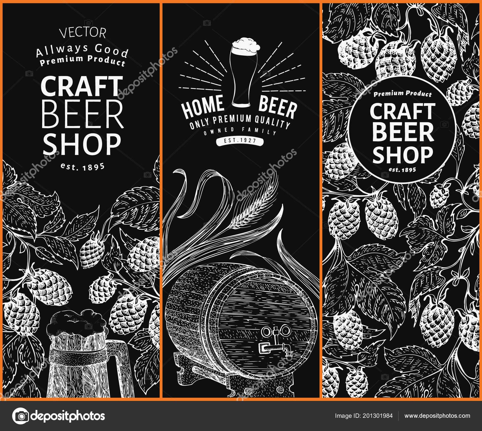 beer hop design templates retro beer background vector hand drawn