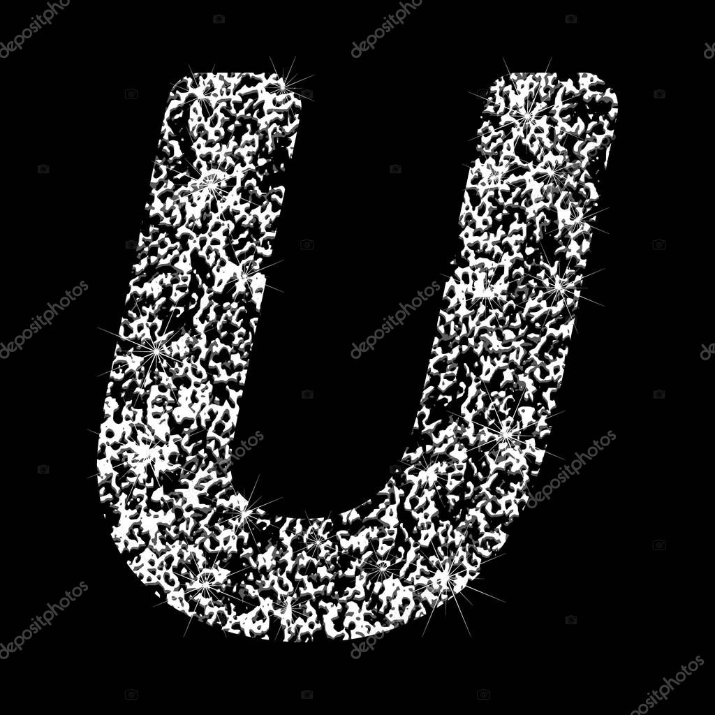 Картинка блестящая буква в на черном фоне, поздравление