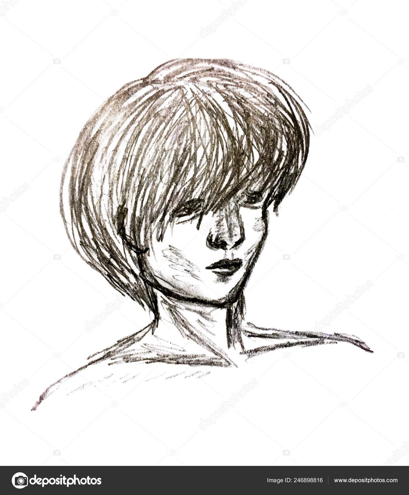 https depositphotos com 246898816 stock illustration black white painted portrait man html