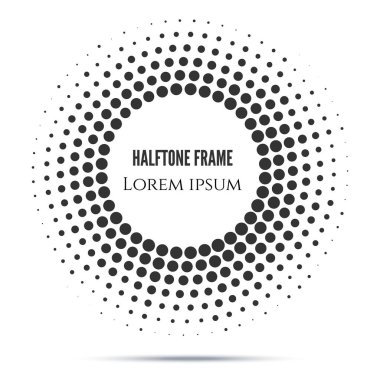 halftone mosaic frame in black