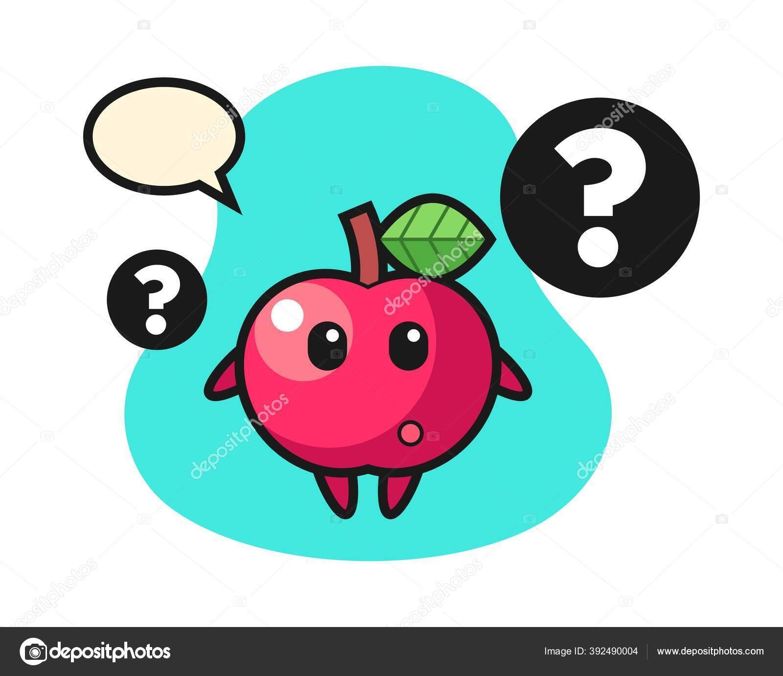 cartoon illustration apple question mark stock vector c heriyusuf rap gmail com 392490004 https depositphotos com 392490004 stock illustration cartoon illustration apple question mark html