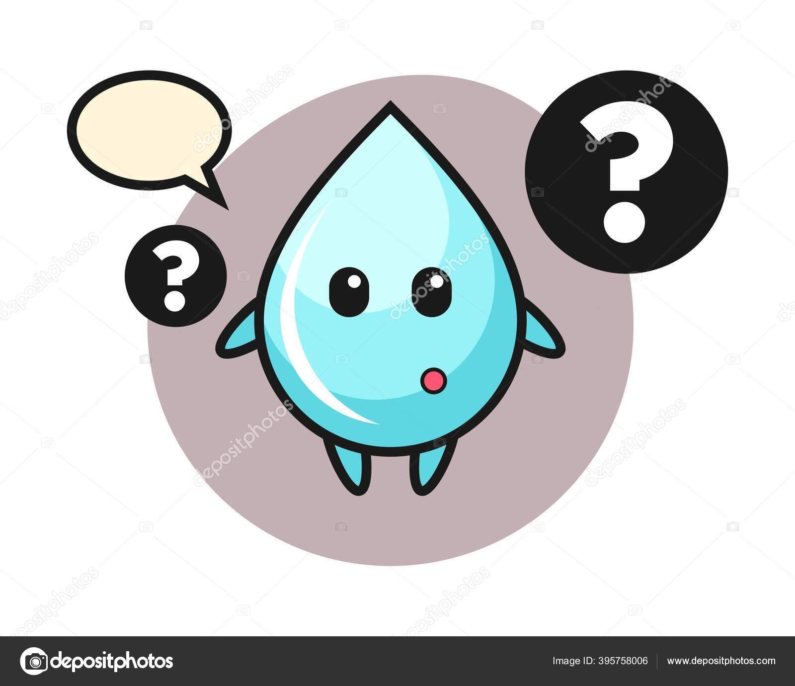 cartoon illustration water drop question mark stock vector c heriyusuf rap gmail com 395758006 https depositphotos com 395758006 stock illustration cartoon illustration water drop question html