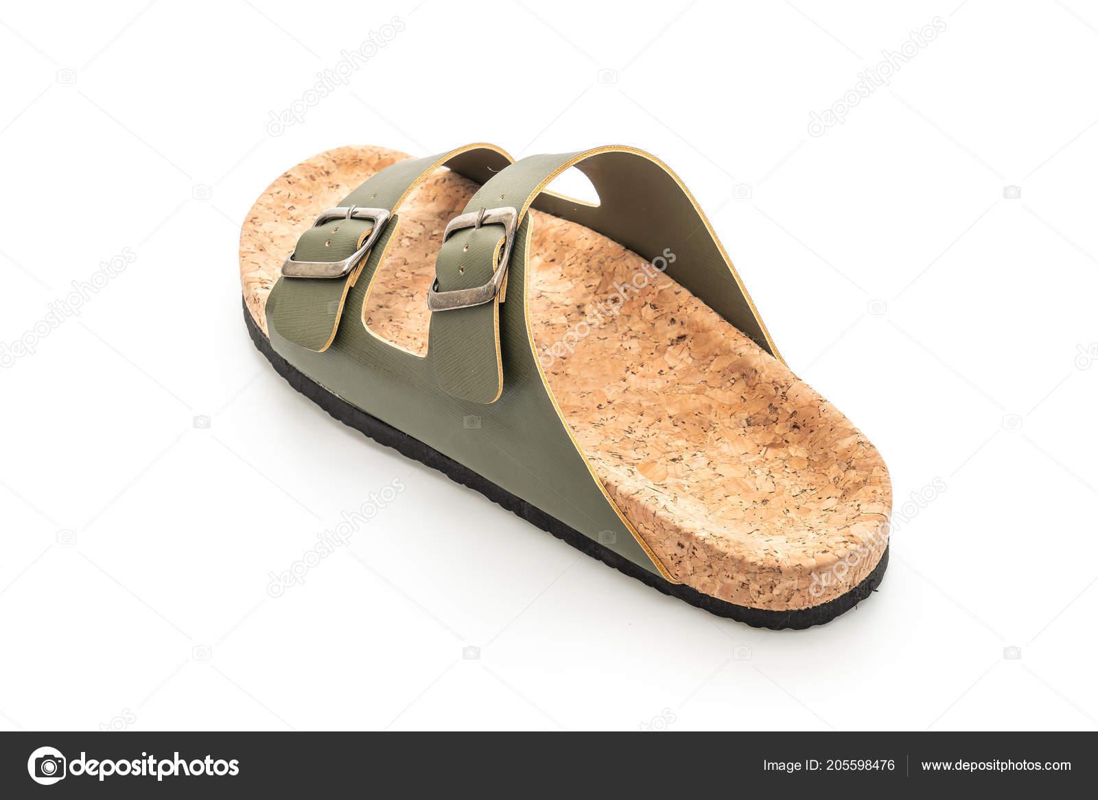 b03903194177b Men Women Unisex Fashion Leather Sandals Isolated White Background — Stock  Photo